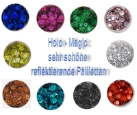 Pailletten, gewölbt - Holo-Magic, 6mm