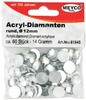 Acryl - Diamanten, 12mm, 60 St.